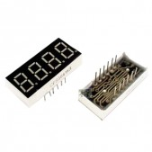 "0.36"" 7-Segment LED Display with 4 Digits (Red) – CC"
