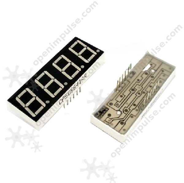 "Four Digit Red 0.56"" Common Cathode 7-Segment LED Display"