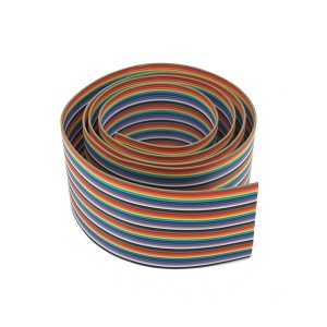 40P Rainbow Ribbon Cable (1 meter)