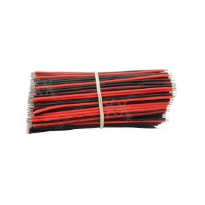 150 mm Red and Black Double-Ended Tinned Wire (10 pcs)