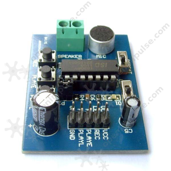 ISD1820 Voice Recoding and Playback Module with MIC