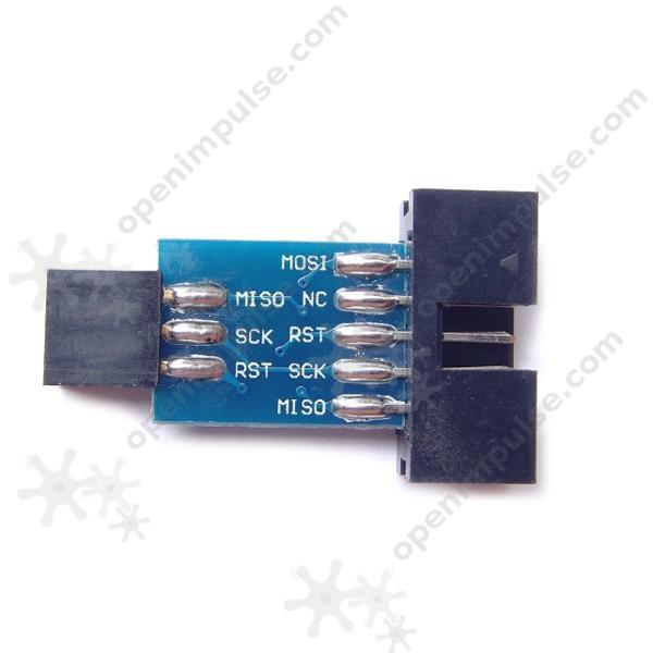 AVRISP/USBASP Adapter (10 pin to 6 pin)