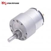 JGB37-520 DC Gearmotor (7 RPM at 24 V)