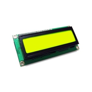 I2C LCD with Yellow-Green Backlight (1602)