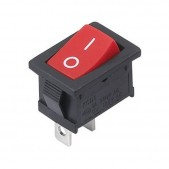 10pcs KCD1-101 Rocker Switch (Red)