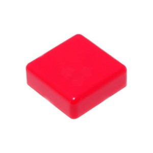 20pcs Square Push Button Cap (Red)