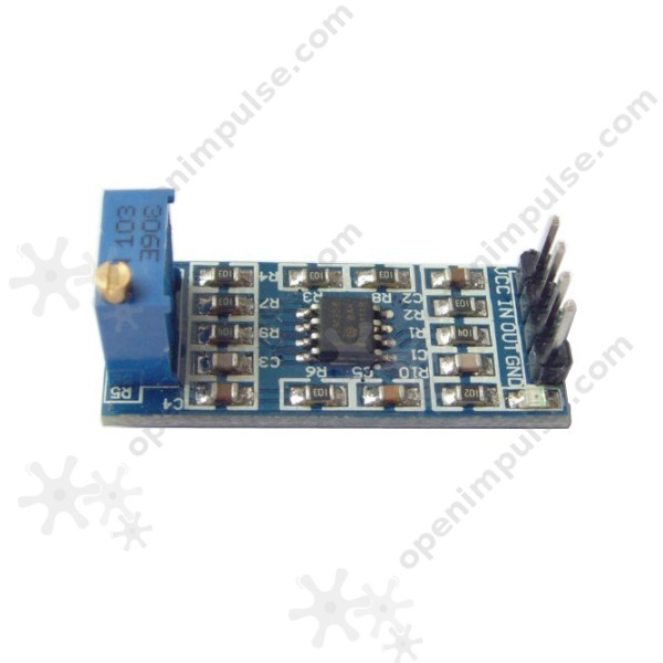 LM358 Amplifier Module (Adjustable Gain up to 100x) | Open