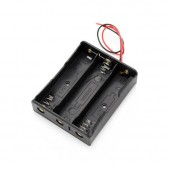 3×18650 Battery Holder with Wires