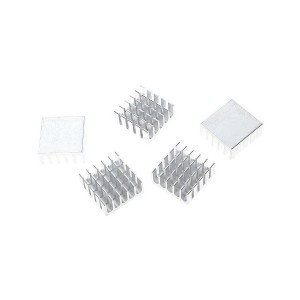 10pcs Silver Slotted Aluminum Heat Sink (22x22x10mm)