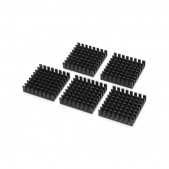 5pcs Black Slotted Aluminum Heat Sink (28x28x8mm)