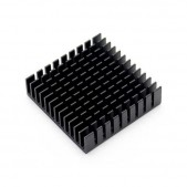 2pcs Black Slotted Aluminum Heat Sink (40x40x11mm)