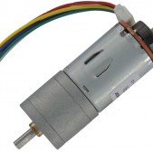 JGA25-371 DC Gearmotor with Encoder (126 RPM at 12 V)