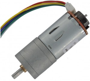 JGA25-371 DC Gearmotor with Encoder (55 RPM at 12 V)