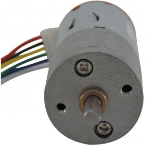 JGA25-371 DC Gearmotor with Encoder (19 RPM at 12 V)