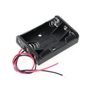4pcs 3×AAA Battery Holder with Wires