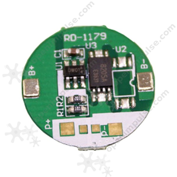 DW01 18650 Single Lithium Battery Protection Board | Open
