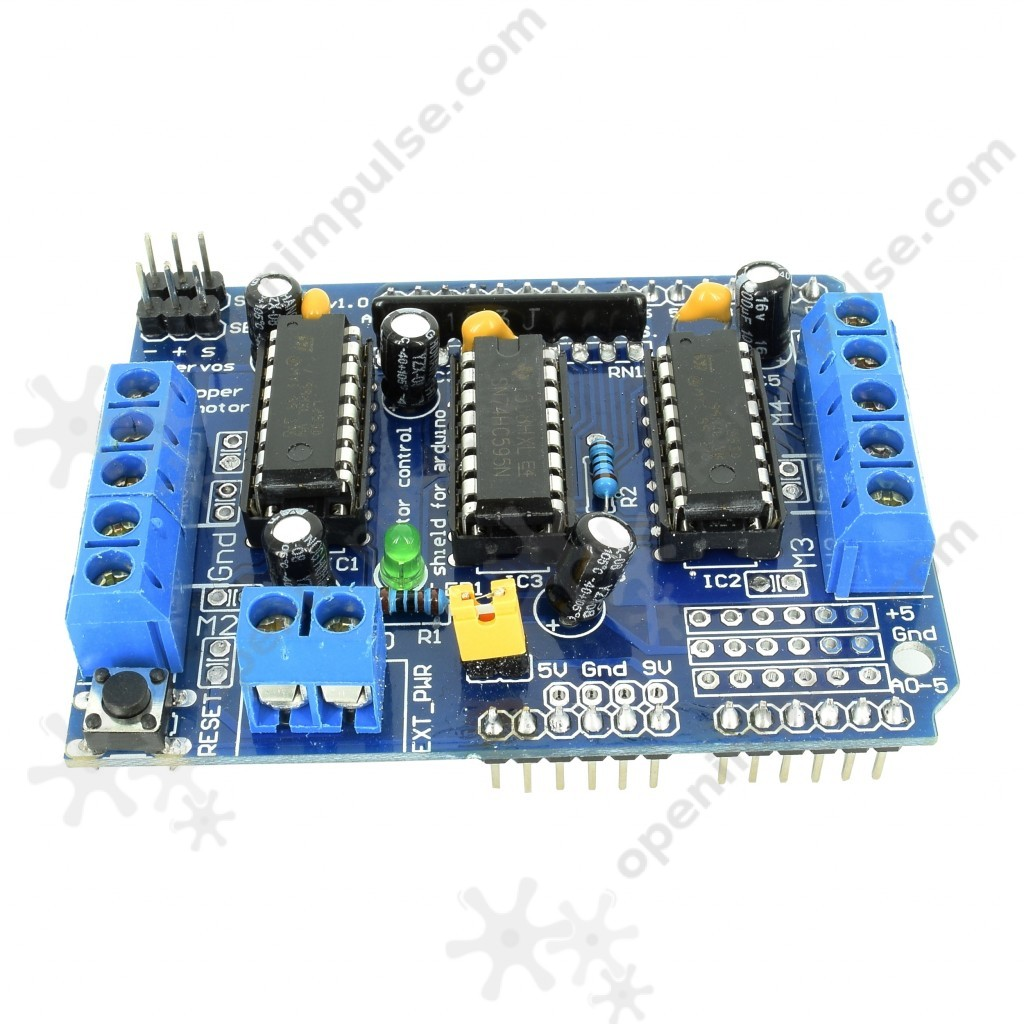 L293d motor driver shield for arduino open impulseopen for L293d motor driver module