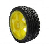 2pcs Rubber Wheel