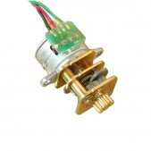 15 mm 2 phase Stepper Motor with Metal Gearbox