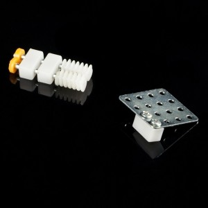 20pcs 5x5x10 mm Two Hole Plastic Bar