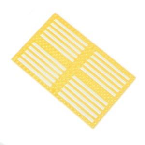 2pcs Drilled Plastic Panel – Yellow