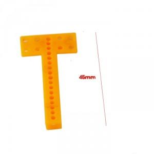 10pcs Drilled T Plastic Bar