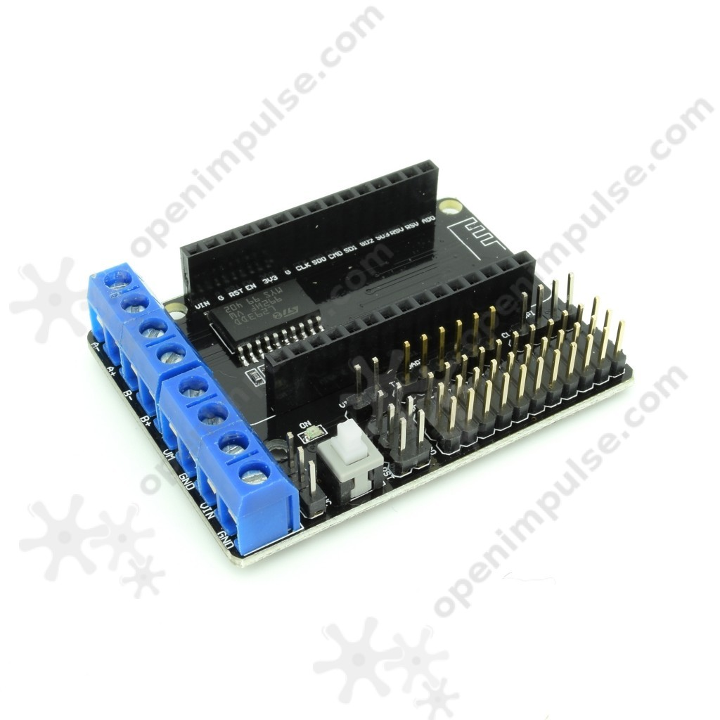 L293d motor driver board for esp8266 wifi modules open for L293d motor driver module