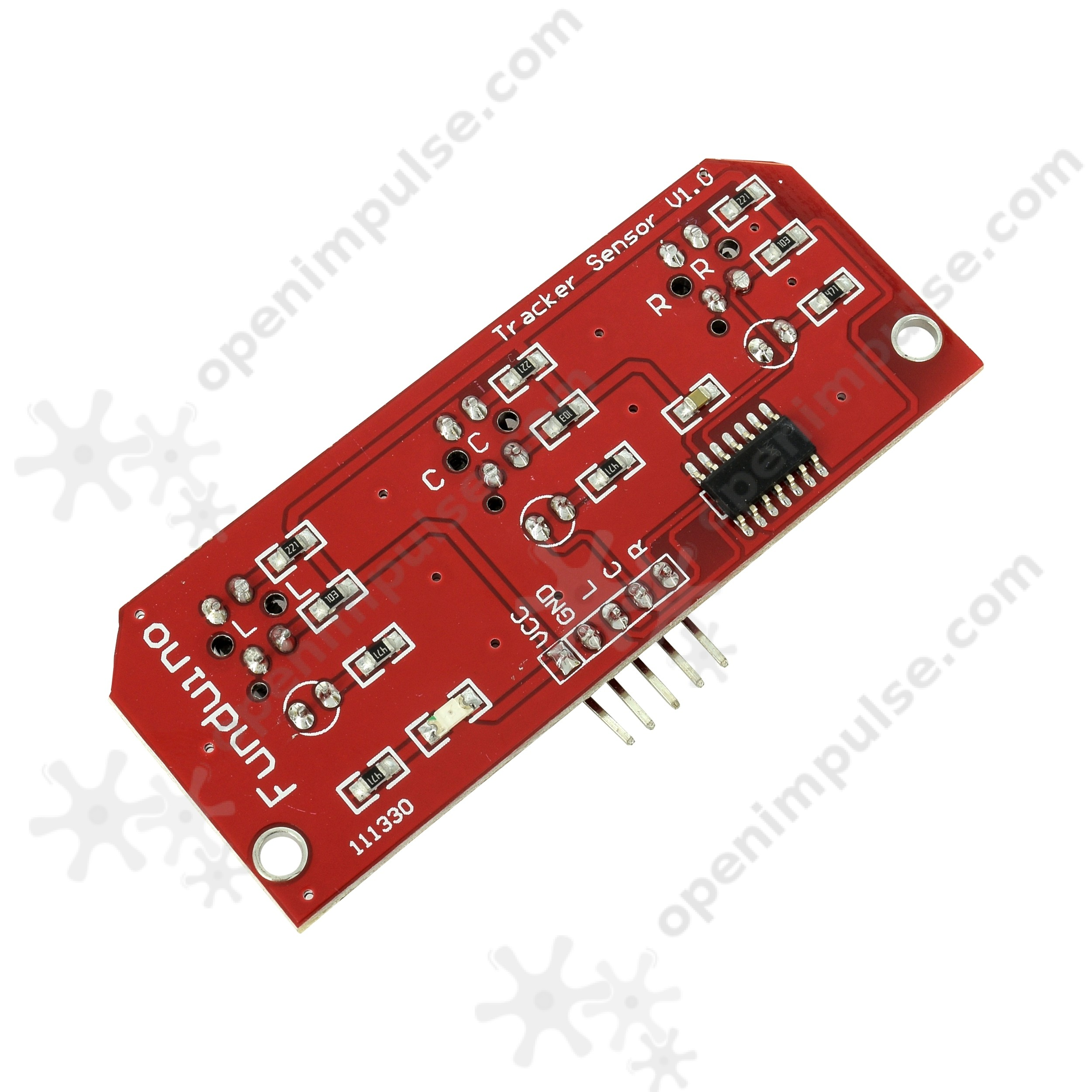 Line Sensor Array With 3 Sensors Open Impulseopen Impulse The We Will Use In This Circuit Is A Tcs3200 Color 1 Bar Commands Your Robot Project To Follow