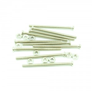 M2x25 mm Screw + Nut (30 pcs pack)