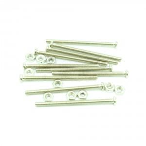 M2x8 mm Screw + Nut (30 pcs pack)