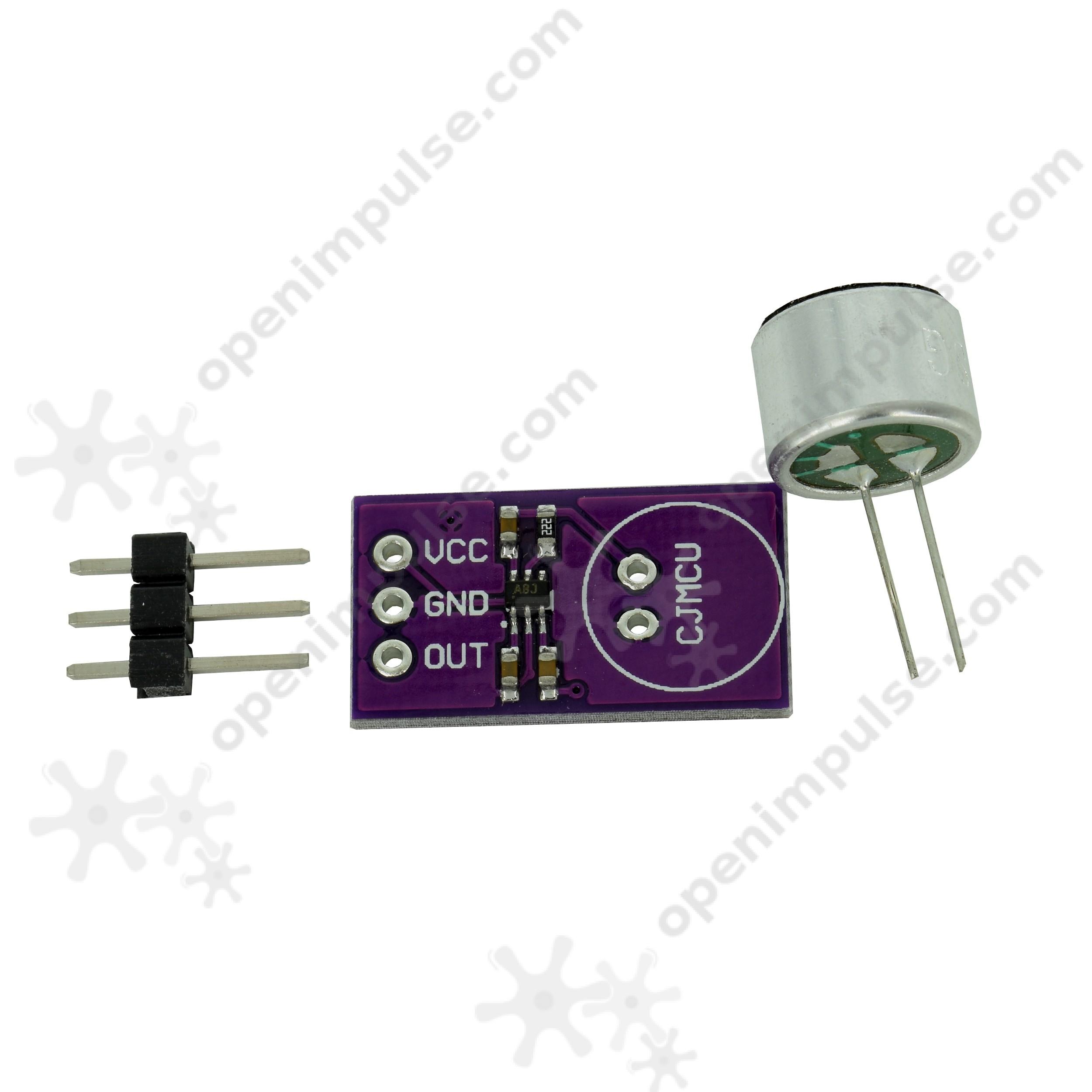 Max9812l Electret Microphone Amplifier Module Open Impulseopen Impulse Mic Preamp Circuit