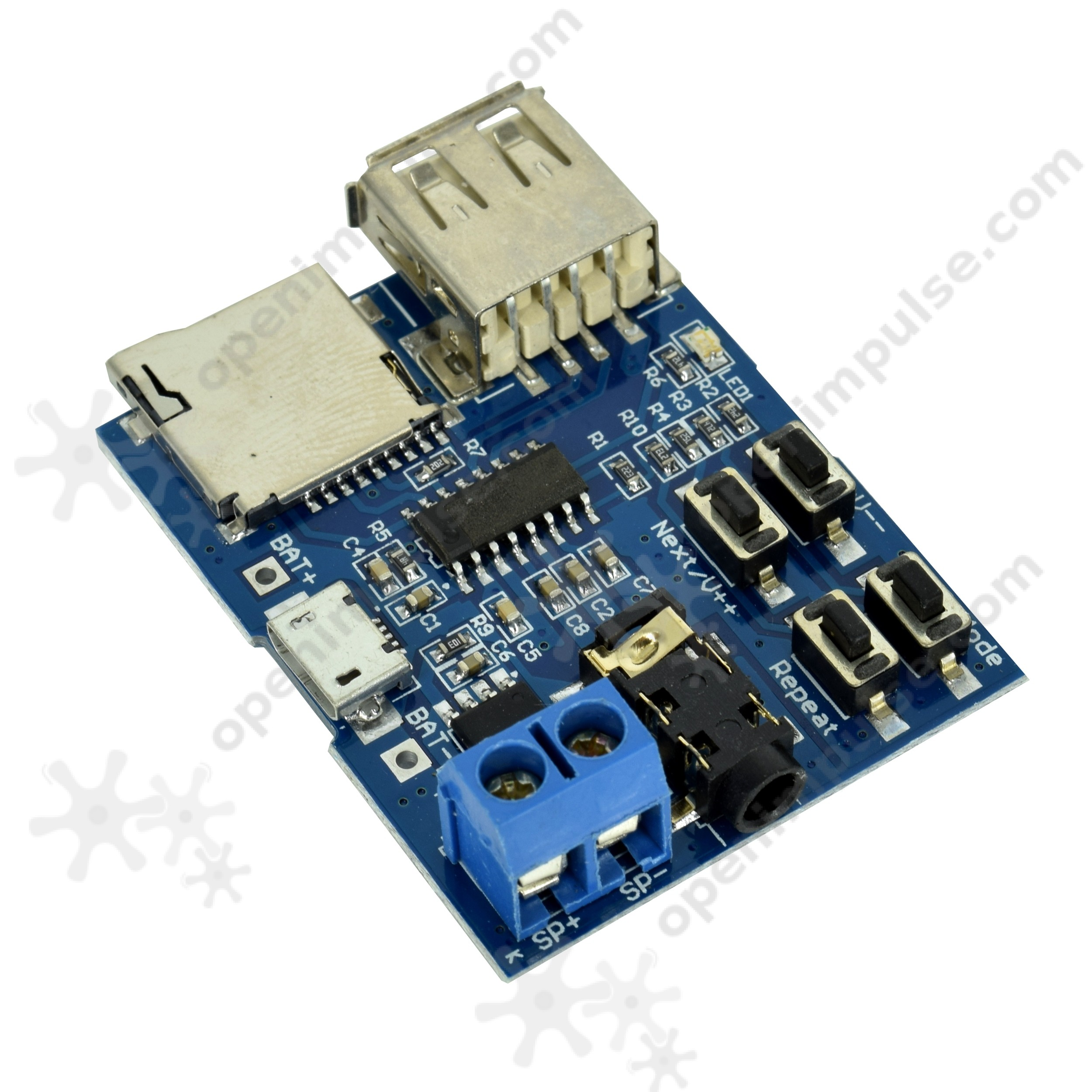 MP3 Player Module with 2W Onboard Amplifier | Open