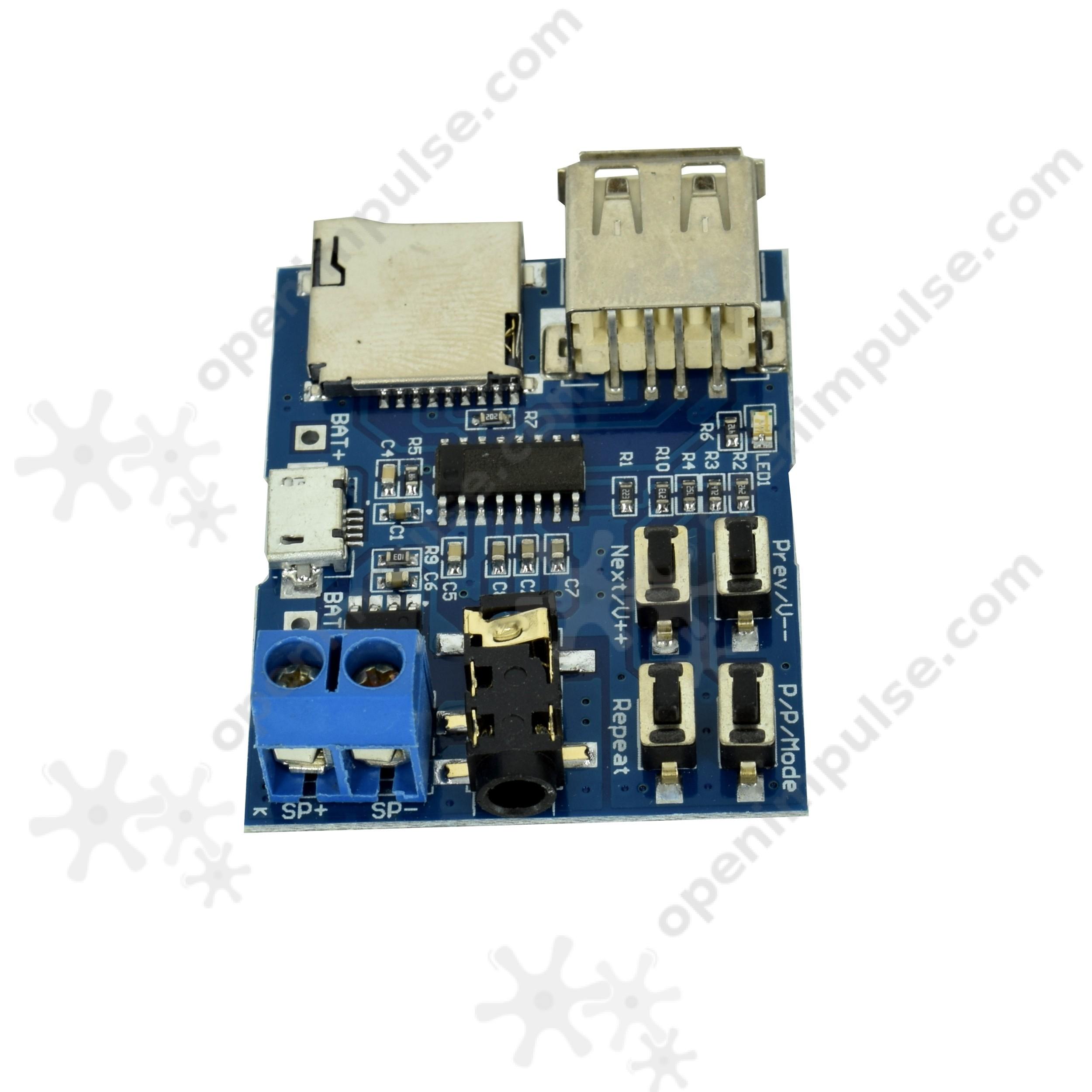 MP3 Player Module with 2W Onboard Amplifier | Open ImpulseOpen Impulse