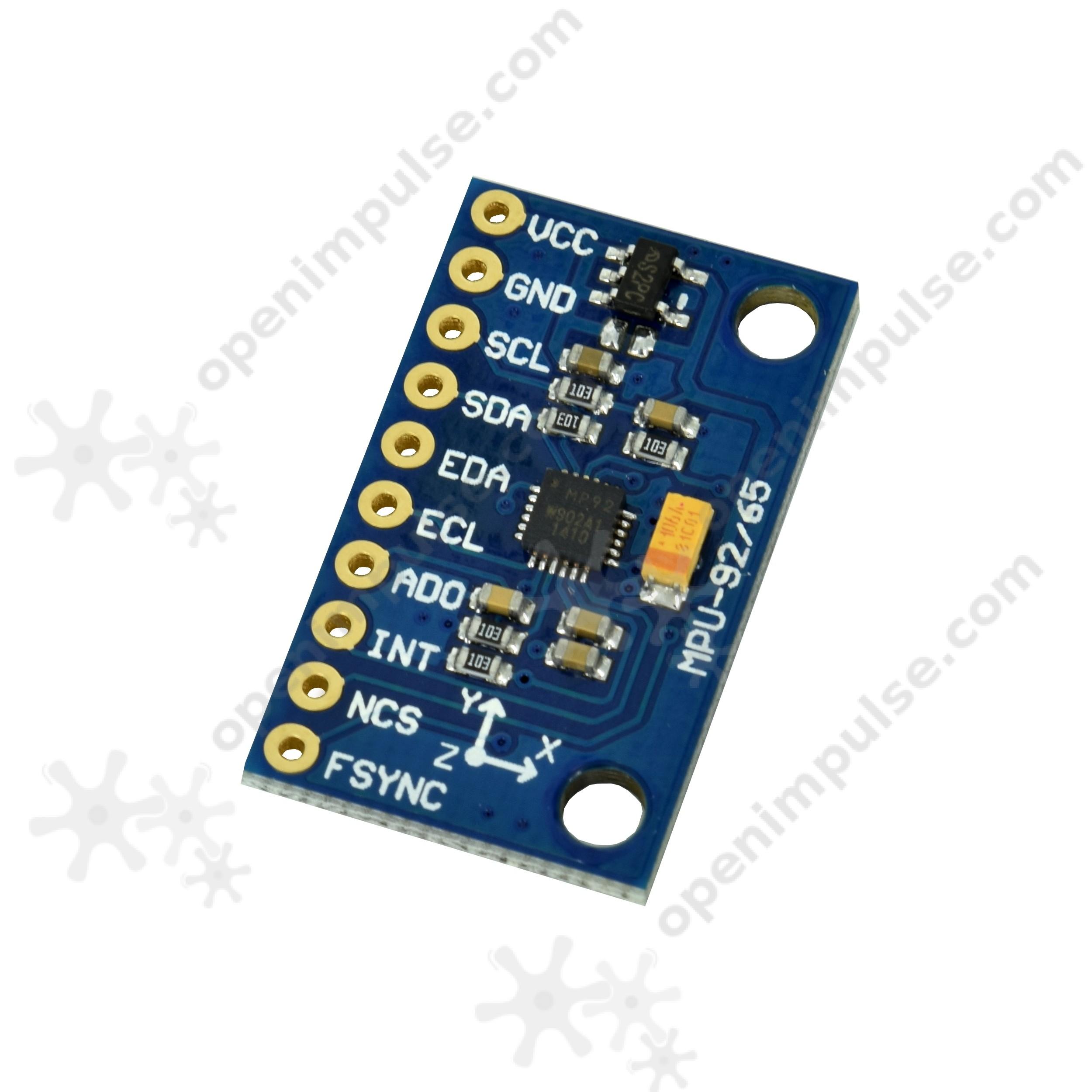 MPU9255 9DOF Digital Accelerometer, Giroscope and