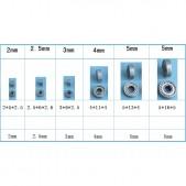 2pcs Miniature Ball Bearing (2.5mm internal diameter)