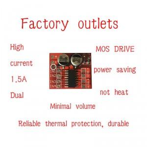 2pcs Miniature Dual DC Motor Driver Module (10V, 1.5 A)