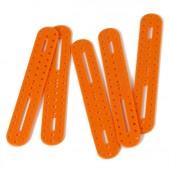 10pcs Oval Plastic Building Block – Orange