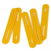10pcs Oval Plastic Building Block – Yellow