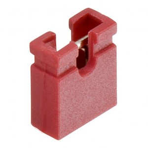 Red 2.54 mm Jumper (open top) – 2000 pcs bag