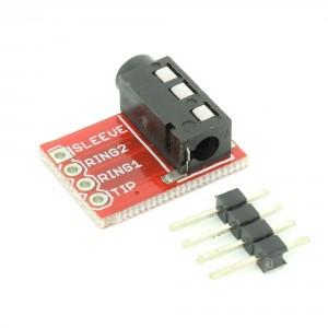 2pcs 3.5 mm Stereo Audio Jack Module