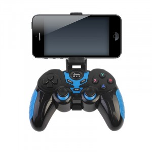 Blue and Black Wireless Joystick with Phone Holder