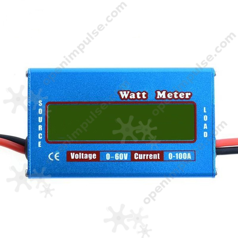 Charger Watt Meter: Digital Watt Meter Max DC 60V 100A