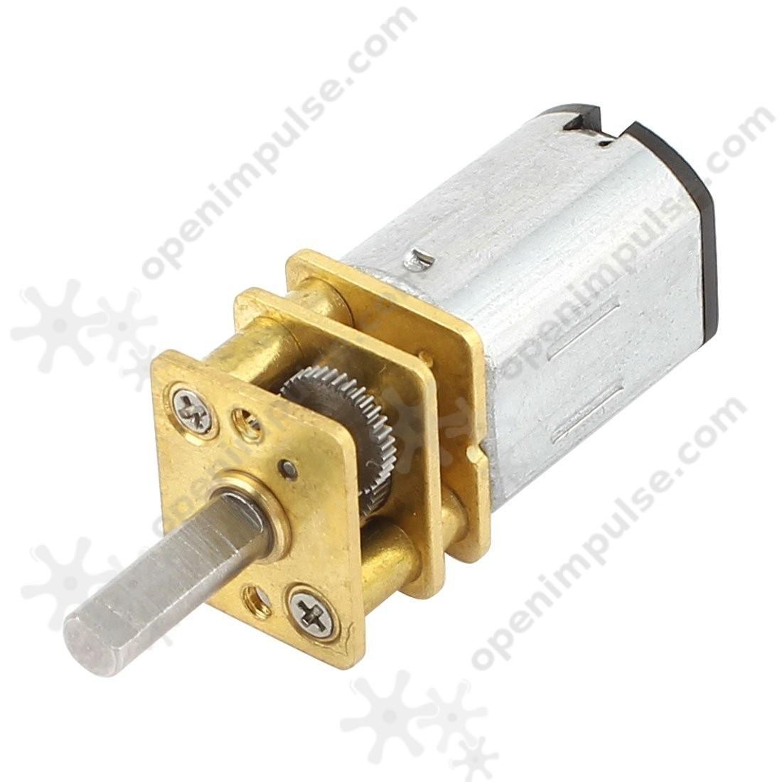 Ga12 n20 micro gearmotor 12gan20 10 500 rpm with 10 mm for Gear motor 500 rpm