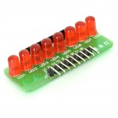 Module with 8 Red LEDs