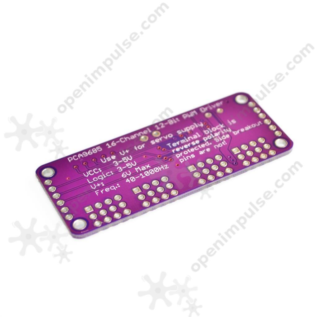 PCA9685 PWM Servo Motor Driver compatible with Raspberry Pi