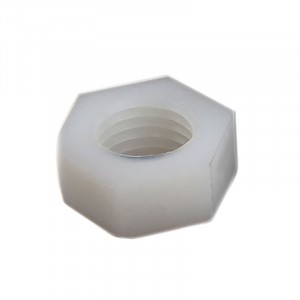 50pcs M3 White Plastic Hexagonal Nuts
