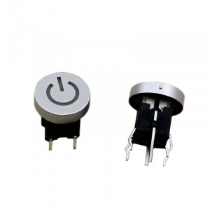 2pcs Power Button with Red LED