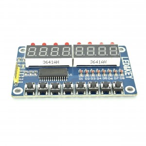 TM1638 8 Digit LED Display with Buttons