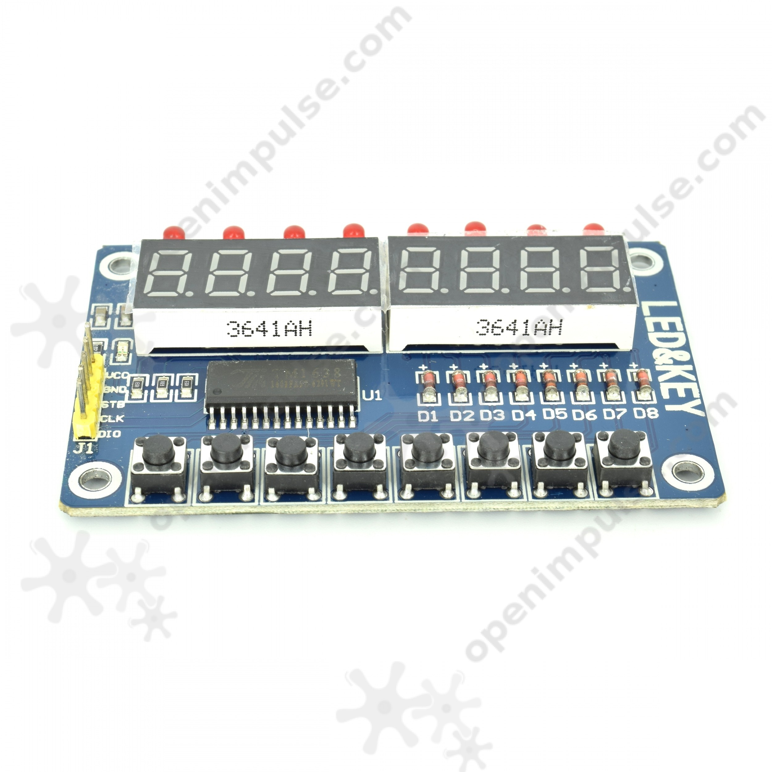 TM1638 8 Digit LED Display with Buttons | Open ImpulseOpen Impulse