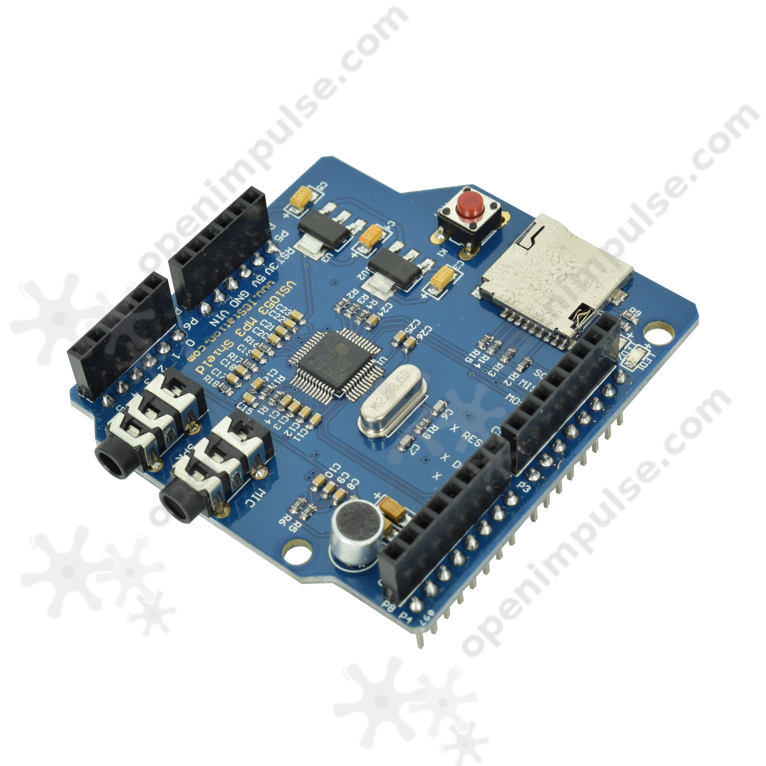 VS1053 Shield for Arduino (with SD Card Slot and Microphone) | Open